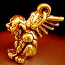 LOOK 3D Gold Plated Gargoyle Protection From Evil pendant charm Jewelry Guardian