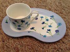 (2) Laura Ashley High Tea Breakfast Set Tea and Toast Plate w/ cup mug