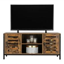 TV Stand Storage Console Entertainment Center w/2 Doors Cabinet and 2 Tier Shelf