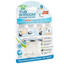 TubShroom Chrome Tub Drain Protector Hair Catcher-