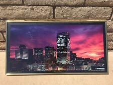 Vintage Modern 1991 Sunset Over Phoenix City Scape Photo Art By Paul Scharbach
