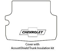 1958 Chevrolet Nomad Trunk Rubber Floor Mat Cover with G-010 Chev Bowtie