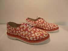 Dr Doc Martens Women's 1461 Candy Pink/Orange Leopard Print Shoes, 9US/7UK EX CO