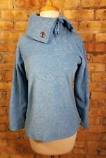 Women's Lole Blue Fleece Quarterzip Jacket Foldover Collar S*