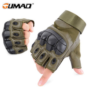 Outdoor Army Military Combat Hunt Shoot Motorcycle Tactical Half Finger Gloves