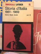 D. M. SMITH - STORIA D'ITALIA 1861 - 1969 - VOL. III - LATERZA - 1973