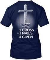 Christian 1+3=4given - 1 Cross +3 Nails 4 Given Hanes Tagless Tee T-Shirt