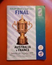 More details for australia v france 1999 rugby world cup final official souvenir programme rare