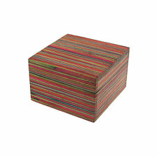 Fair Trade Handmade Dhari Small Striped Mango Wood Box