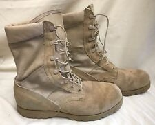 US Military Desert Tan Combat Boots Vibram Sole USA Made Size 10.5 Lace up EUC