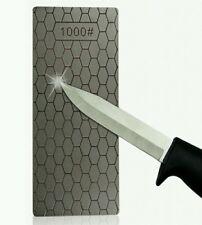 Cuchillo de piedra afilar diamante Delgada Profesional Bushcraft Supervivencia Prepper EDC
