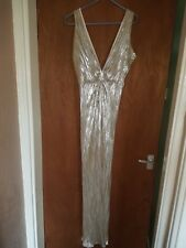 Beautiful maxi dress beyonce inspired gown gold/silver xmas christmas party