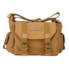 Men DSLR Camera Shoulder Bag Canvas Photography Messenger Sling Bags Color Beige