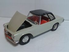Vintage GAMA W.Germany Mercedes 230SL Pagode tinplate/plastic friction'60 1:13,5