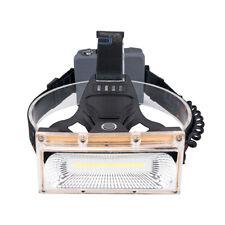 Adjustable Wide Angle Headlamp COB LED Strip Head Torch Camping Head Lamp