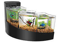 Aqueon Betta Falls Aquarium Three Tier Waterfall Bettas Fish Tank In Black