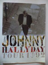 """Programme JOHNNY HALLYDAY Tour 1992 (disque souple """"Reste ici"""") 48 pages"""