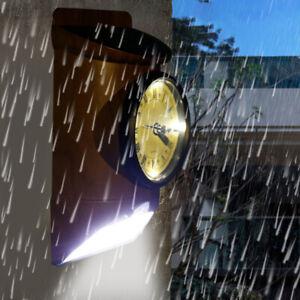 AU_ Solar Powered Motion Sensor Light Outdoor LED Security Lighting Wall Garden