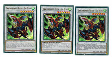 3 X Dracheneinheit Ritter Gae Dearg BLLR-DE059, Mint, Ultra Rare, Playset