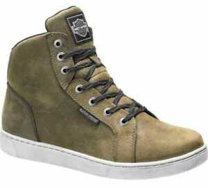 Harley Davidson Mens Leather CE Approved Waterproof Mitric Boots Olive D97134