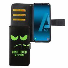 Samsung Galaxy A40 Hülle Case Handy Cover Schutz Tasche Flip Schutzhülle Grün