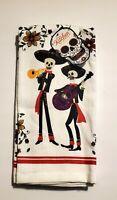 Day Of The Dead Dia De Los Muertos Kitchen Dish Towel Set/2 New Great Quality!