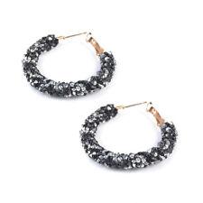 Women Lady Elegant Hook Earrings Crystal Ear Stud Dangle Hoops Jewelry Gifts