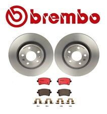 For Audi A4 A5 Quattro Q5 Rear Left & Right Disc Brake Rotors & Pads Brembo KIT