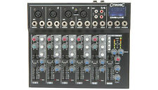 6 Channel Compact Mixer with Delay and USB/SD player