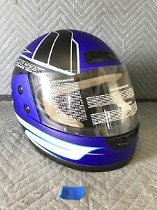 M2R Made2Race KGA Speed Media Full Face Motorcycle Helmet Size XL