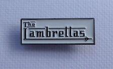 Metal Enamel Pin Badge Brooch The Lambrettas English MOD Band Chrome on White