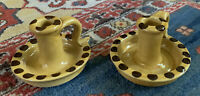 COLONIAL WILLIAMSBURG CW RESTORATION POTTERY Candle Holders TWO (2) in lot