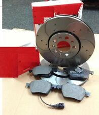 VW GOLF MK4 1998-2004 DRILLED GROOVED FRONT PERFORMANCE BRAKE DISCS & FRONT PADS