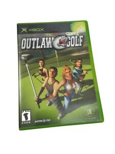 OUTLAW GOLF X Box Video Game Disc Case Book Manuel Strippers Ex Cons Rappers