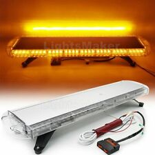 "72W LED 38"" Amber Emergency Warning Tow/Plow Truck Response Roof LightBar Yellow"