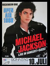 """Michael Jackson germany 1988 16"""" x 12"""" Reproduction Concert Poster Photo"""