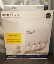 Classic Soap Shampoo Conditioner Dispensers 4 Chambers Easy Refill NEW