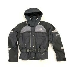 North Face Steep Tech Rendezvous Jacket Womens 14 Striped Black Ski Snowboard
