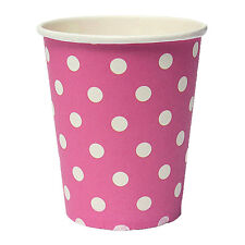 50pcs Polka Dot Paper Paper Cups Disposable Tableware Pink HY