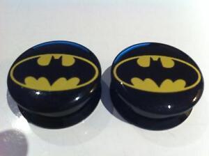 Pair Batman Superhero Ear Plugs Flesh Tunnel Tunnels Stretcher 6-30mm