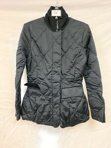 Women's Ralph Lauren Black Quilted Jacket Fill Zip Hand Pockets Size 8