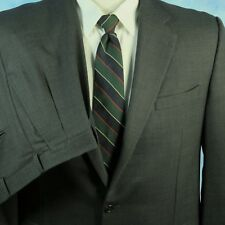 Hickey Freeman Nordstrom Madison SUIT Gray Wool Birdseye Jacket 46L Pants 40x30