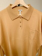 Brand New Loewe Wool Polo Oversized Sweater Camel Size S