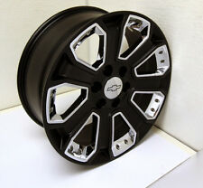 New 20 inch Chevy Satin Black with Chrome Inserts Wheels Rims Silverado Z71