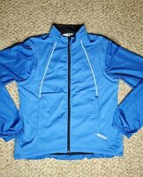 Sugoi Cycling Size Large Convertible Jacket Blue Full Zip Front Back Pockets