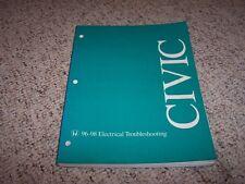 1996-1998 Honda Civic Electrical Wiring Diagram Manual 1997 CX DX EX LX