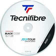 Tecnifibre Black Code Tennis String - 1.28mm/16G - 200m Reel - Black - BlackCode
