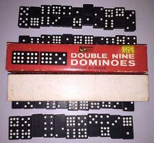 Rare Vintage Woolworth Woolco Double Nine Jaymar Dominoes 8287 - 55 Pieces