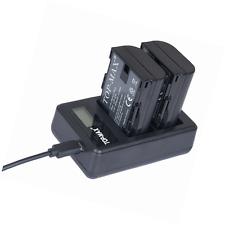 LP-E6 LP-E6N USB Dual Charger + 2x Battery Super Long Life for Canon EOS 70D,7D,
