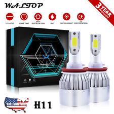 H11 H8 H9 LED Headlights Bulbs Kit High Low Beam Bright 1300W 195000LM 6K White